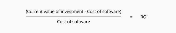 ROI of software equation