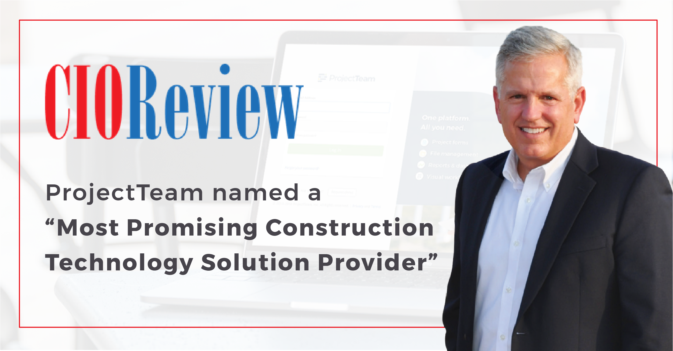 ProjectTeam Recognized as a Most Promising Construction Technology